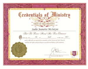Ordained